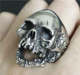 Men Size 15 Rings Australia - 1pc Size 7-15 New Design Men Boys Huge Skull Ring 316L Stainless Steel Popular Fashion Biker Ghost Skull Ring KKA1956