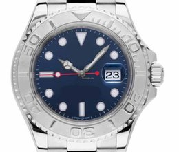 Platinum Product online shopping - Men s Luxury Products High Quality Classic Series Movementteel Platinum mm YachtMaster Grey Dial Blue Automatic Mens Luminous Watch