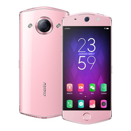ingrosso telefoni cellulari andoridi-Originale Meitu M6 GB RAM GB ROM G LTE Cellulare MT6755 Octa Core Andorid D Curve Glass MP Fingerprint ID Cell Phone