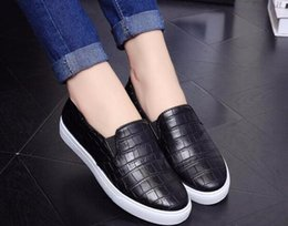 Wholesale- Fashion Crocodile Print Loafers Women Shoes Spring Autumn Solid Flats Soft Ladies Slip On WFS95 explore for sale pick a best cheap price xoxlSiAd