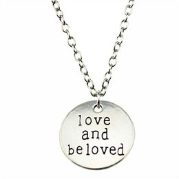 $enCountryForm.capitalKeyWord Australia - WYSIWYG 5 Pieces Metal Chain Necklaces Pendants Vintage Necklace Handmade Love And Beloved 20mm N2-B10383