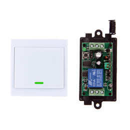 $enCountryForm.capitalKeyWord UK - DC 9V 12V 24V 1 CH 1CH RF Wireless Remote Control Switch System Receiver+86 Wall Panel Transmitter,315 433 MHz Toggle