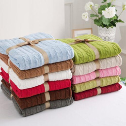Electric Beds Canada - Free Shipping High Quality Cotton Knitted Wool Blanket Home Air Conditioning Room Sofa Blanket Throw Blankets for Beds Mermaid Blanket