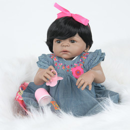 Chinese  Full Silicone Vinyl Reborn Baby Doll Realistic Girl Babies Dolls 23 Inch 58 cm Lifelike PReborn Toddlers Girls Baby Dolls Babies Kids Toys manufacturers