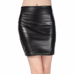 f7407c509863 TighT leaTher skirTs online shopping - 2018 spring autumn Fashion Women Skirts  PU faux leather skirts