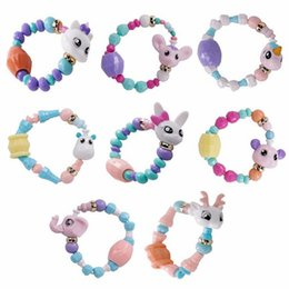 Diy Boys Toys UK - Hot Sale Deformed Animal Bracelet Kids Toys For Boy Girls Cute Magic Twisted Bracelet Diy Cartoon Toy Bracelet For Girls Boy Gift D0697-1