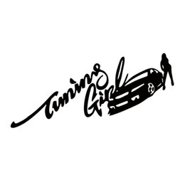 Discount car tuning stickers - Personality Tuning Girl and Sexy Lady Car Styling Personalized Car Decal Decoration Styling Jdm