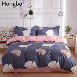 Light Green Comforters Canada - Hongbo Duvet Cover Bedding Quilt Comforter Cover for Home Geometric Pattern Aloe Cotton Bedclothes