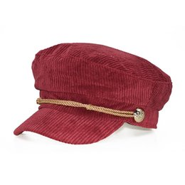 Duckbill hats men online shopping - Solid Color Lace Corduroy Women Flat Berets Cap Ladies Elegant Baker Girl Hat Duckbill Autumn Classic Female Hat