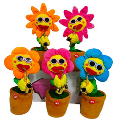 $enCountryForm.capitalKeyWord UK - Funny Singing and Dancing Flower Enchanting Sunflower with Saxophone Soft Plush Toy