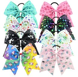 Chinese  Jojo Bow Cheer Bow Big Hair Bows with Ponytail Holder Large Classic Accessories for Teens Women Girls Softball Cheerleader Sports Elastics T manufacturers
