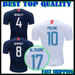 f3a16169bb5 18 19 United States soccer jersey home away 2018 2019 usa PULISIC DEMPSEY  YEDLIN BRADLEY ALTIDORE football shirts top quality