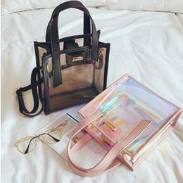 $enCountryForm.capitalKeyWord NZ - MOQ:1PCS Fashion Laser Transparent Jelly Candy Shoulder Bag Female Tote Girl Crossboby Casual Women Ladies Handbag Popular Shopping Bag