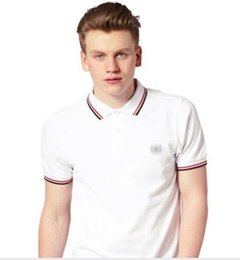 Polo shirt custom online shopping - HOt Sales Famous Business men shorts sleeve Polo shirts Popular Cotton embroidery Wheat Polos Custom Designer made Fred Dress shirts