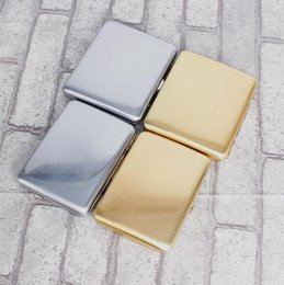 pure cigarettes NZ - New metal stainless steel cover, smooth cigarette case, gold and Silver 16, 20 sets, compression resistant gift box, pure copper.