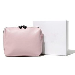 Box clutches online shopping - Women Hot sale Brand Makeup Bag Popular PU Cosmetic Cases Fashion High grade Pink Enchanting Clutches With Box Gift