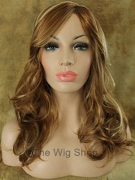$enCountryForm.capitalKeyWord NZ - Wavy 27 Strawberry 613 Platinum Blonde Highlights Wig Bangs Skin Top Kanekalon T
