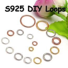 20 шт. / лот 925 стерлингового серебра близко прыгать кольца ювелирные изделия выводы Сплит кольца для diy серебро / золото / розовое золото аксессуары 7 размеров на Распродаже