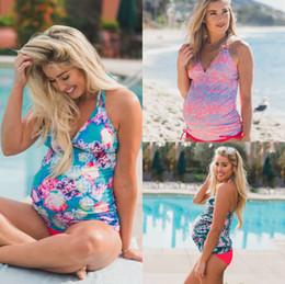 swimwear for fat women 2019 - Summer Beach Floral Women Bikinis Tankinis Set 2PCs Flral Maternity Swimwear Plus Size Large Maxi Swimsuit for Fat Pregn