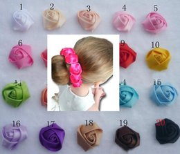 $enCountryForm.capitalKeyWord NZ - HOT Silk Rose Flower Girl Bridesmaid Hair Bun Ring Holder Garland Scrunchies Floral Band R Hair accessories 12pcs