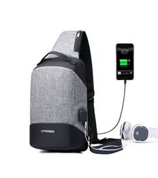 Single Shoulder Strap Packs Australia - 2018 New Fashion Crossbody Bags for Men Messenger USB Chest Bag Pack Casual Bag Waterproof Oxford Single Shoulder Strap Pack Sling Bag