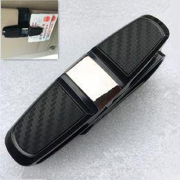 655b3cff702 Black Car Sun Visor Sunglasses Holder Portable Fastener Cip Eyeglasses Clip  Ticket Card Clamp ABS Car Glasses Cases