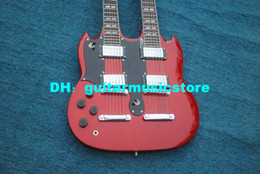 $enCountryForm.capitalKeyWord Australia - Red 6 12 Strings 1275 Double Neck Left Handed Electric Guitar Mahogany Body OEM From China Free Shipping