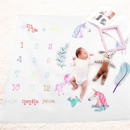 Child growth online shopping - Photography Prop Blanket Newborn Children Photograph Rug Growth Record Print Playmats For Girls Boys Fashion Mileage Carpets fdb jj