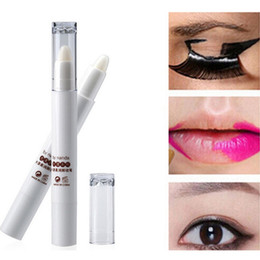 by nanda Professional Moisten Makeup Remover Smooth Clean Cosmetic Tool Makeup Remover Pen Professional Lip Eye Makeup Remover Corrector Pen