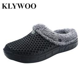 $enCountryForm.capitalKeyWord Canada - KLYWOO Big Size 45 Winter Warm Slippers Men Indoor Casual Shoes Cotton Pantoffels Casual Croc Clogs With Fur Fleece Lining House