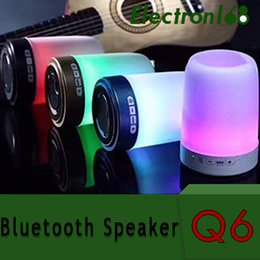 $enCountryForm.capitalKeyWord Australia - Wireless Bluetooth speaker pen holder phone bracket speaker card U disk with colorful lights mini portable small sound Q6 60pcs