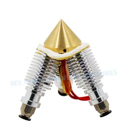 Extruder Nozzle Australia - 3 in 1 out Brass Diamond 0.4mm Nozzle Extruder Multi V6 Bowden Extrusion Remote Hotend 3D Printer Parts 12V24W Hot End 1.75 Part
