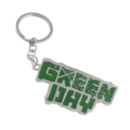Discount punk cartoon girls - America Music Green Day punk band Rock Band Keychain Keychain Enemal keyring Key Chain Pendant