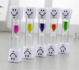 Wholesale Smiley Children Kids Toothbrush Timer Hourglass Sand Clock Egg Timer min Timer For Tea Cafe Timekeeping Hourglass