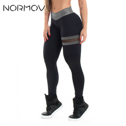 Yoga Pants Female Canada - NORMOV High Waist Yoga Leggings Women Fitness Clothing Training Pants Trousers Female Push Up Mesh Leggings Sport Femme 3 Color