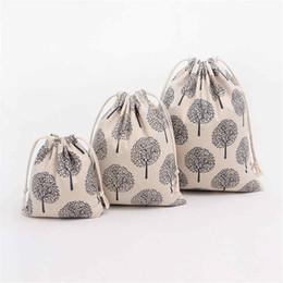 $enCountryForm.capitalKeyWord Australia - 2 Size Korea Style Canvas  Cotton Backpack Bag Shoe Travel Pouch Portable Drawstring Storage Bags High Quality