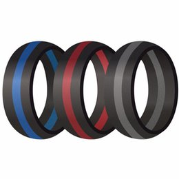 Bands color silicone online shopping - 9MM Size Silicone Ring Rubber Multi Color Hypoallergenic Crossfit Flexible Ring Band Wedding Engagement Statement Cocktail