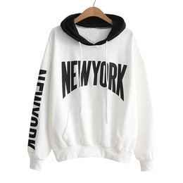Jumpers Tops Ladies Australia - 2019 New Autumn Womens Long Sleeve Cotton Letter Print Hoodie Sweatshirt Ladies Fashion Shirt Jumper Hooded Pullover Tops Blouse