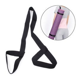 sporting mat Canada - Cotton Yoga Mat Carrying Strap Slings Belts Stretch Adjustable Yoga Mat Shoulder Strap For Gym Sport Exercise