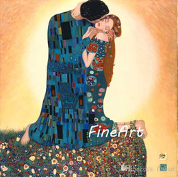 $enCountryForm.capitalKeyWord NZ - handmade oil painting reproduction of famous artist gustave klimt Kiss canvas art discount best modern art canvas painting set home decorati