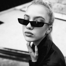 4985769205 Vintage Sunglasses Women Cat Eye Luxury Brand Designer Sun Glasses Retro  Small Frame ladies Sunglass Black Eyewear oculos
