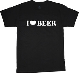 sayings animals UK - men's t-shirt I Love Beer funny saying tall tee Mens T-Shirt Summer O Neck Cotton