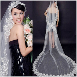 $enCountryForm.capitalKeyWord Australia - New 2018 Fast Delivery Hot Sale Big Discount One Layer Lace Edge Best Price Bridal Veil