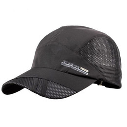 f016236e Solid Plain Mesh Snapback Baseball Cap Quick Drying Hats for Men Cotton  Casual Caps Breathable Fitted Belt Adjustable Dad Hat