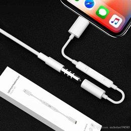 Venta al por mayor de Conversor de Audio y Control Bluetooth para Lightn --- a 3.5mm Jack Headphone para iPhone X 7 8 Plus Adaptador de Cable y Audífono