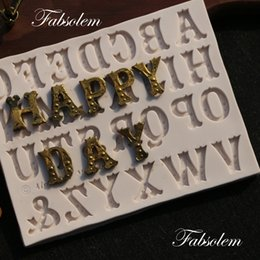 letter art alphabet NZ - N080Word Art styles Silicone mold alphabet cake mold letter for fondant cake mould