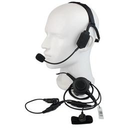 TacTical headseTs pTT online shopping - Finger PTT MIC Military Bone Conduction Tactical Headphone Headset for Motorola XiR P6600 Radio Walkie Talkie C2222A