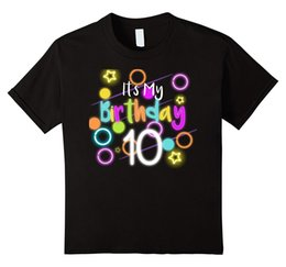 Glow Shirt S NZ - Glow Birthday 10th. Neon T-shirt Funny Celebration Kids 80's