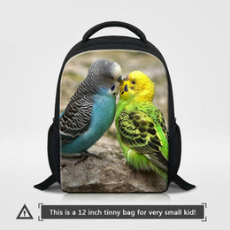 Backpacks For Kids Boys Canada - Kindergarten School Bags For Girls Boys Cute Animal Parrot Pattern Backpack To School Kids Small Bagpack For Traveling Children Mini Bookbag