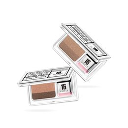 $enCountryForm.capitalKeyWord UK - Portable Double Color Lazy Double Layer Eyeshadow Makeup Palette Pigment Waterproof Shimmer Eye Shadow Makeup with Brush